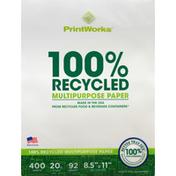 PrintWorks 100% Recycled Multipurpose Paper