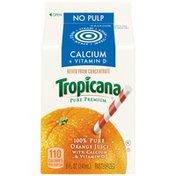 Tropicana No Pulp Calcium + Vitamin D Orange Juice