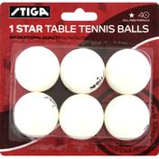 Stiga Table Tennis Balls, 1 Star