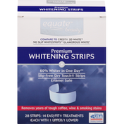 Equate Whitening Strips, Premium