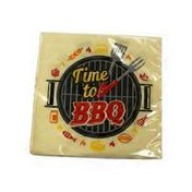 Creative Converting Time to Barbeque Beverage Napkin