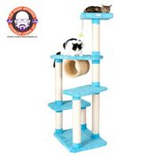 Armarkat Premium 4 Level With Perch & Tunnel Cat Tree - Sky Blue
