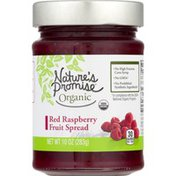Nature's Promise Organic Red Raspberry Fruit Spread