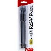 Pentel Ballpoint Pen, Medium, Black Ink