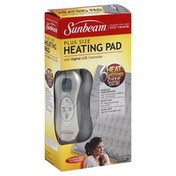 Sunbeam Heating Pad, with Digital LCD Controller, Plus Size