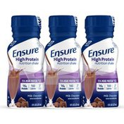 Ensure High Protein Nutrition Shake Milk Chocolate Ready-to-Drink Bottles