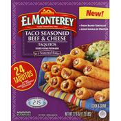 El Monterey Taquitos, Taco Seasoned Beef & Cheese