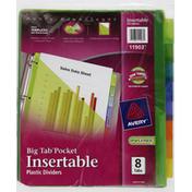 Avery Plastic Dividers, Insertable, Big Tab Pocket