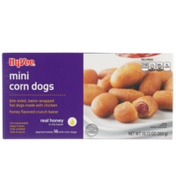 Hy-Vee Honey Flavored Crunch Batter Mini Corn Dogs Bite-Sized, Batter-Wrapped Hot Dogs