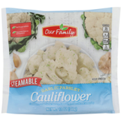 Our Family Steamable Garlic Parsley Cauliflower, Extra Virgin Olive Oil And Seasoning
