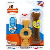 Nylabone Puppy Chew Toy Combo Pack