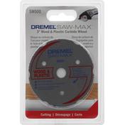 Dremel Carbide Wheel, Wood & Plastic, 3 Inch