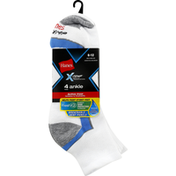 Hanes Ankle Socks, Men's, 6-12