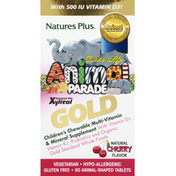 Nature's Plus Chewable Multivitamin & Mineral Supplement, Children's, Animal-Shaped Tablets, Natural Cherry Flavor