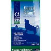 Natural Balance Alpha Dog Lamb Chicken Meal & Rabbit Formula Grain Free Dry Dog Food