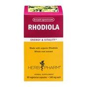 Herb Pharm Rhodiola Energy & Vitality Herbal Supplement Vegetarian Capsules - 60 CT