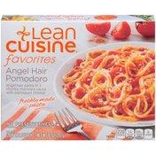 LEAN CUISINE Angel hair pasta in a chunky marinara sauce with Parmesan cheese. Angel Hair Pomodoro