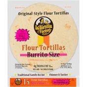 La Tortilla Factory Burrito Size Original Style Flour Tortillas