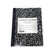Bazic Black Marble College Ruled Composition Book