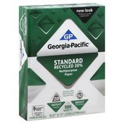 Georgia Pacific Multipurpose Paper, Standard Recycled 30%, Shrink Wrapped