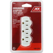Ace Adapter, Three Outlet, Grounding