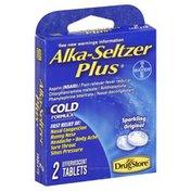 Alka-Seltzer Cold Formula, Alka-Seltzer Plus, Sparkling Original, Effervescent Tablets