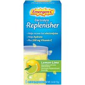 Emergen-C Electrolyte Replenisher Lemon-Lime Electrolyte Replenishment Drink Mix