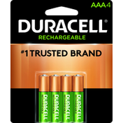 Duracell Battery, NiMH, AAA, 4 Pack