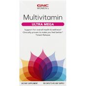 GNC Multivitamin, Women's, Ultra Mega, Caplets