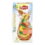 Lipton Tea & Honey Peach Apricot Iced Black Tea Packets - 6 CT