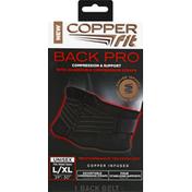 Copper Fit CopperFit Back Pro - L/XL - Black