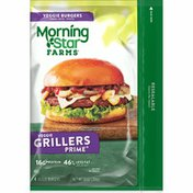 Morning Star Farms Veggie Burgers, Grillers Prime, Vegetarian, Excellent Source of Protein