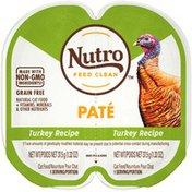 NUTRO Feed Clean Grain Free Turkey Recipe Paté Natural Cat Food