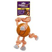 Multipet Dog Toy, Tpr Ball, with 3 Ropes