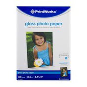 PrintWorks Photo Paper, 8.5 x 11in, Satin