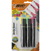 BiC Highlighter, Assorted, 3 'n 1
