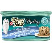 Fancy Feast Elegant Medleys Yellowfin Tuna Tuscany With Long Grain Rice & Garden Greens Wet Cat Food