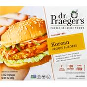 Dr. Praeger's Veggie Burgers, Gluten Free, Korean