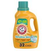 Arm & Hammer Sensitive Skin Plus Fresh Scent, 32 Loads Liquid Laundry Detergent,