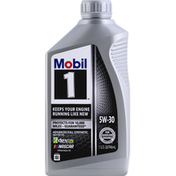 Mobil Motor Oil, Advanced Full Synthetic, 5W-30