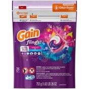 Gain Flings! Wildflower & Waterfall Pacs Laundry Detergent