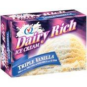 Dairy Rich Triple Vanilla Ice Cream in Square Box