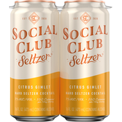 Social Club Seltzer, Citrus Gimlet