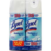 Lysol Disinfectant Spray, Crisp Linen Scent, Value Pack
