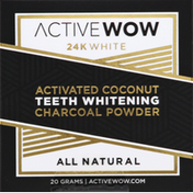 Active Wow Charcoal Powder, Activated Coconut, Teeth Whitening