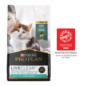 Purina Pro Plan LiveClear Dry Cat Food for Kittens Chicken & Rice Formula