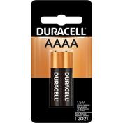 Duracell Batteries, Alkaline, AAAA, 1.5V, 2 Pack