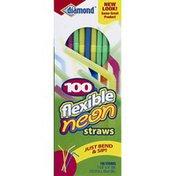 Diamond Straws, Flexible Neon