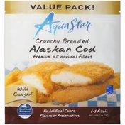 Aqua Star Crunchy Breaded Alaskan Cod Fillets