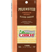 Cabot Sliced Cheese, Muenster, Premium Natural